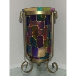 Stained Glass Effect Vase