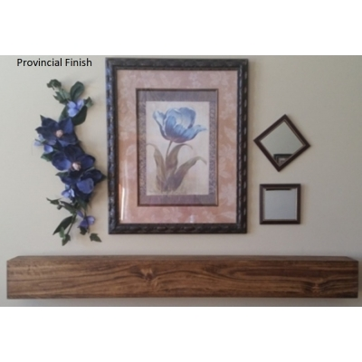 "4"" Tall Rustic Beam Fireplace Mantel Floating Shelf"