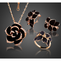 Fashion Rose Flower Enamel Jewelr..
