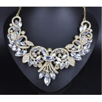 Luxury Brand Crystal Flower Neckl..