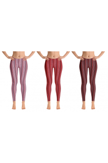 Vertical Lines Multicolored Leggingz Black, Red, Silver, Pink