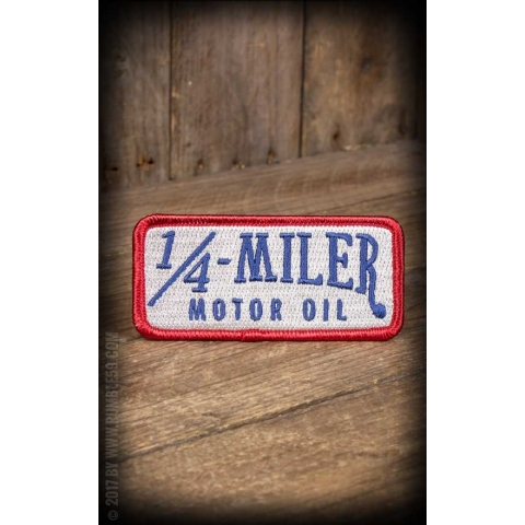 1/4 Miler Motor Oil Iron On Patch