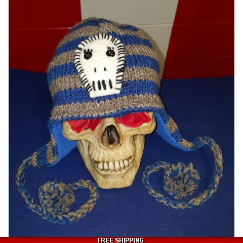Striped Skull Woolen Hat