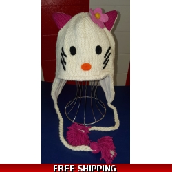 Kitty Cat Woolen Hat