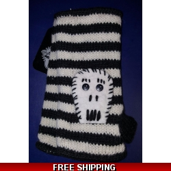 Striped Skull Woolen Gl..