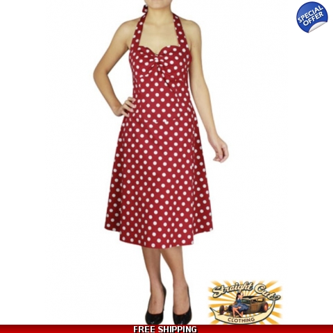 Polka Dot Halter Dress