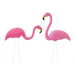 Garden Flamingos - set ..