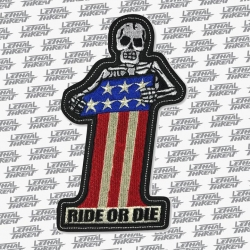 No. 1 Skull Iron On Patch
