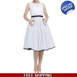 Polka Dot Circle Skirt ..