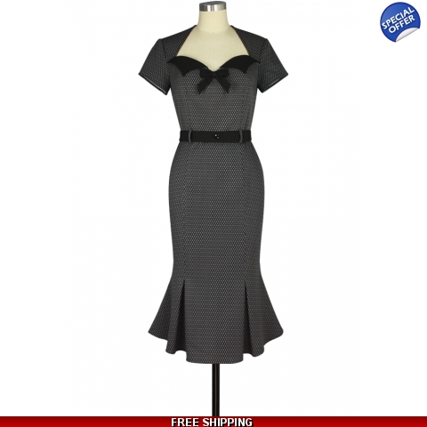 Black Pearl Wiggle Dress