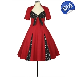 Polka Dot Accent Dress ..