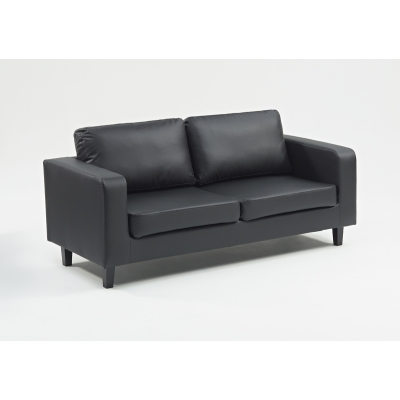 Box Sofa 3 Seater Black