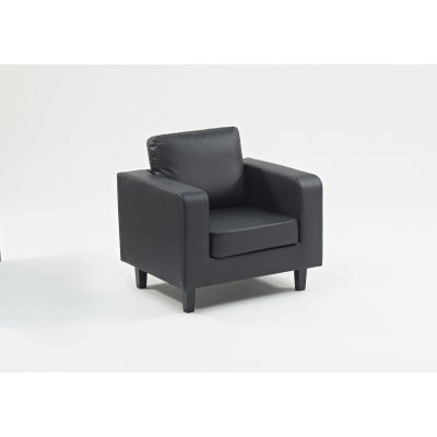 Box Sofa 1 Seater Black