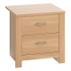 Oakland 2 Drawer Bedside