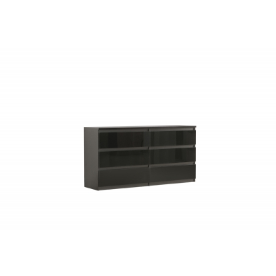 Chelsea 6 Drawer Wide Chest Black