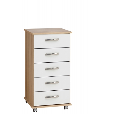 Regal 5 drawer bedside