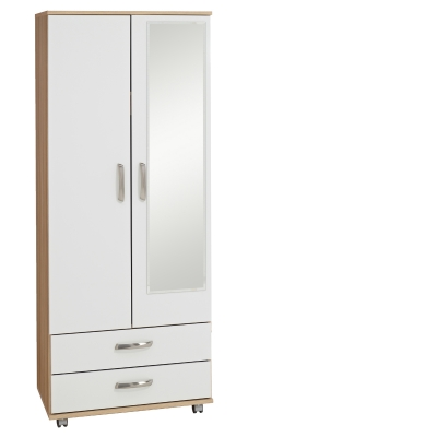 Regal 2 Door Wardrobe + 2 Drawers + Mirror