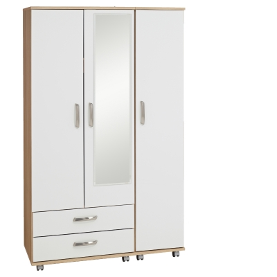 Regal 3 Door Wardrobe + 2 Drawers + Mirror
