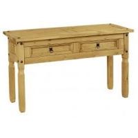 Corona console table 2 drawer.