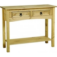 Corona console table 2 drawer wit..