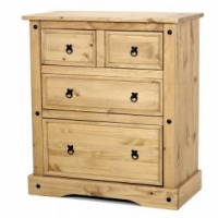 Corona chest 2+2 drawer wide