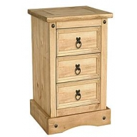 Corona Nightstand 3 Drawer