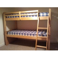 Bunk bed mattress pair