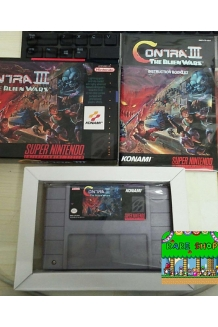 Contra III 3 the Alien Wars Super Nintendo - SNES NTSC Cartridge Complete