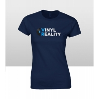 Vinyl Reality Women's T Shirt Navy