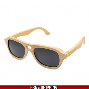 Light Bamboo Driving Glasses