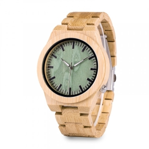 Green Faced Bamboo Watch