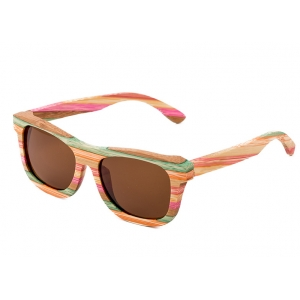 Rainbow Bamboo Sunglasses