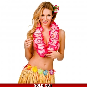 Hawaiian Lei Necklace - Pink