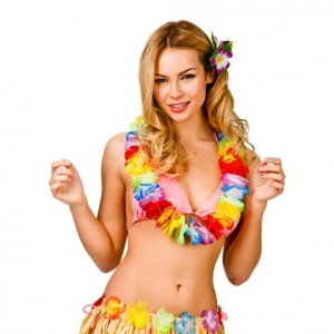 Hawaiian Lei Necklace- Multi Colour