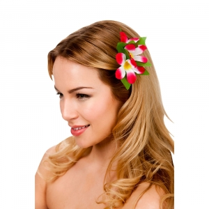 Hawaiian Flower Hairclip - Pink