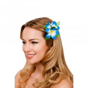 Hawaiian Flower Hairclip - Blue