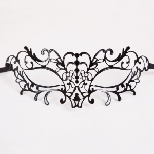 Metal Filigree Eye Mask - Black