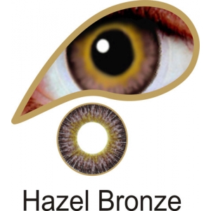 Hazel Bronze Contact Lenses 3 Months