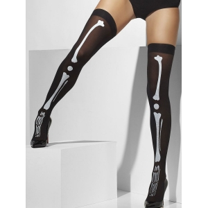 Opaque Hold-Ups - Skeleton Print