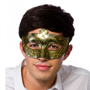 Gladiator Eye Mask - Gold