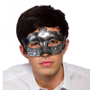 Gladiator Eye Mask - Silver