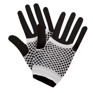 Fishnet Gloves - White