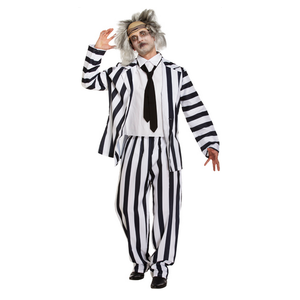 Crazy Ghost Costume - Beetlejuice Style