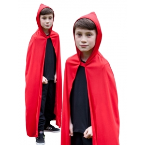 Children's Hooded Cape - Red