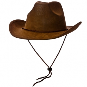 Deluxe Suede Cowboy Hat - Brown
