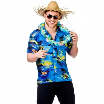 Hawaiian shirt - Blue title=