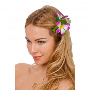 Hawaiian Flower Hairclip - Purple