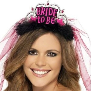 Bride to Be Tiara - Black/Pink