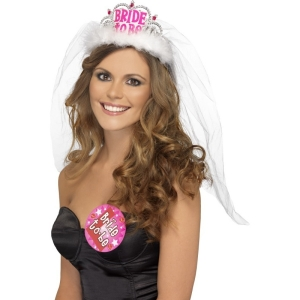 Bride to Be Tiara - White