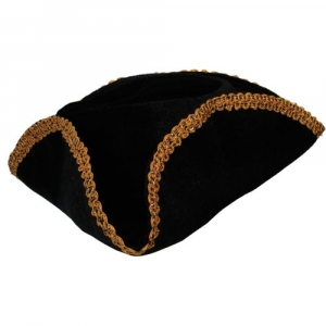Pirate Tricorne Hat - Black